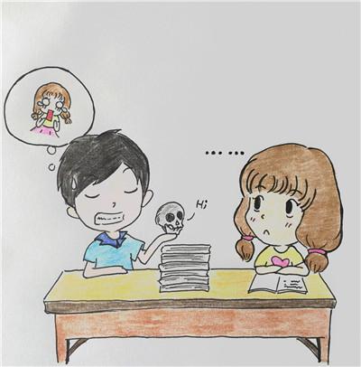 女生手绘漫画谢医护